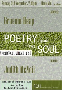 POETRY from the SOUL 3 nov