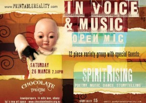 In VOICE and Music 26 march 11