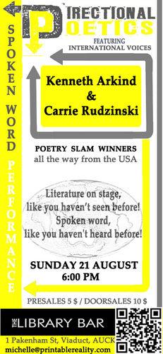 Directional Poetics-Ken Arkind & Carrie Rudzinski