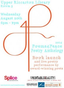 poems4peave anthology Christchurch Launch