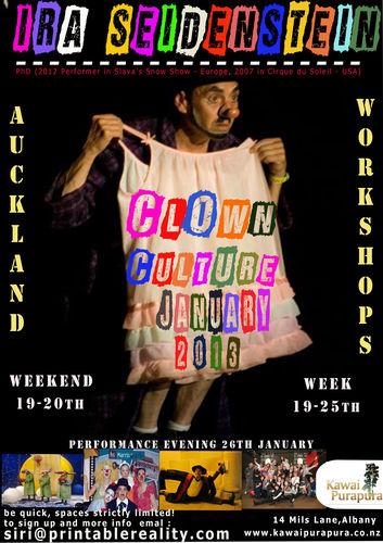 Clown Culture NZ 2013 with Ira SeidensteinClown Culture NZ 2013 with Ira Seidenstein