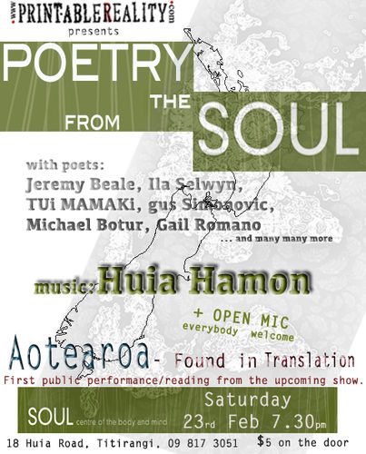 Poetry From the SOUL 23 Feb 13