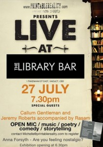 Live at The Library Bar 27 July 11