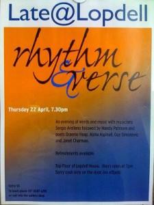 Rhythm and Verse 22april10