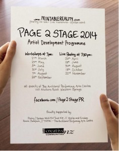 page2stage14 National Poetry Day - Wrap Party