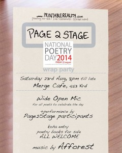National Poetry Day - Wrap Party