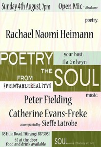 POETRY from the SOUL   4 aug