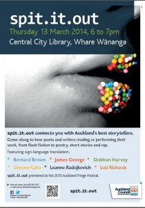 spit.it out 13 March City Library
